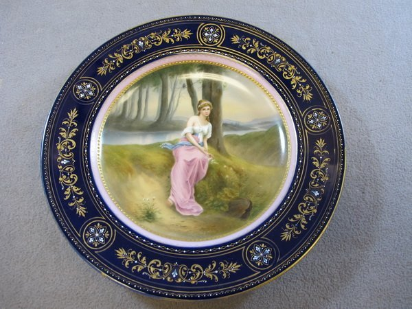 22: Old Vienna porcelain plate