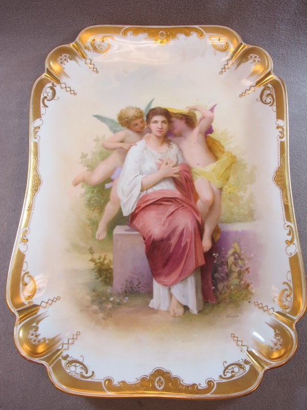23: Old Vienna porcelain tray