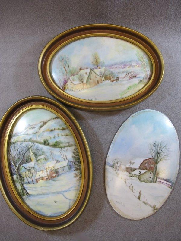 24: European set of 3 porcelain plaques