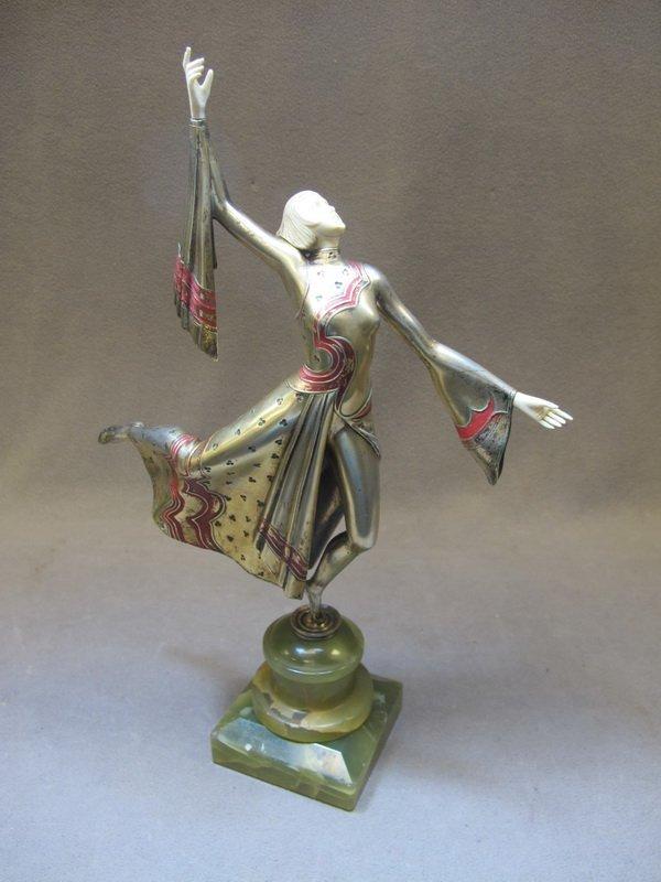 148B: Gerda Iro GERDAGO (1906-?) bronze & ivory statue
