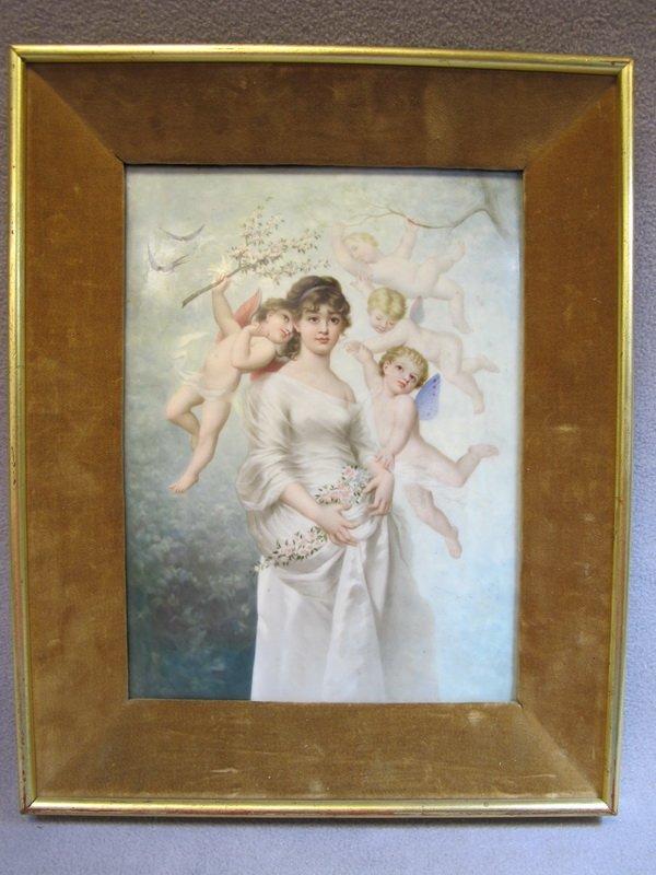 274: KPM porcelain plaque