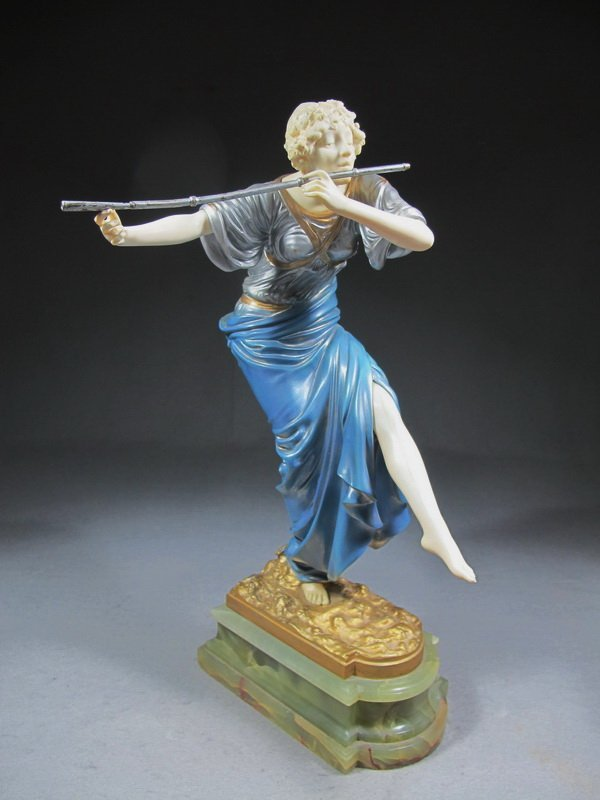 282: Paul Philippe (1870-1930) bronze & ivory statue