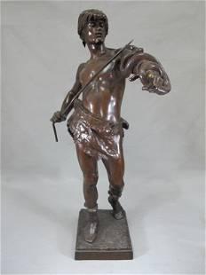 471: Eugene MARIOTON (1854-1933) bronze statue
