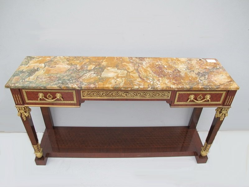 193: Antique French console signed FOREST, Paris