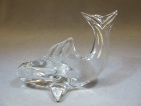 3: Daum Nancy glass fish statue