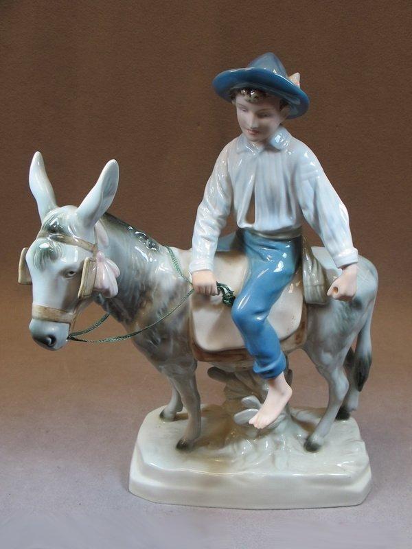5: Royal Dux porcelain statue