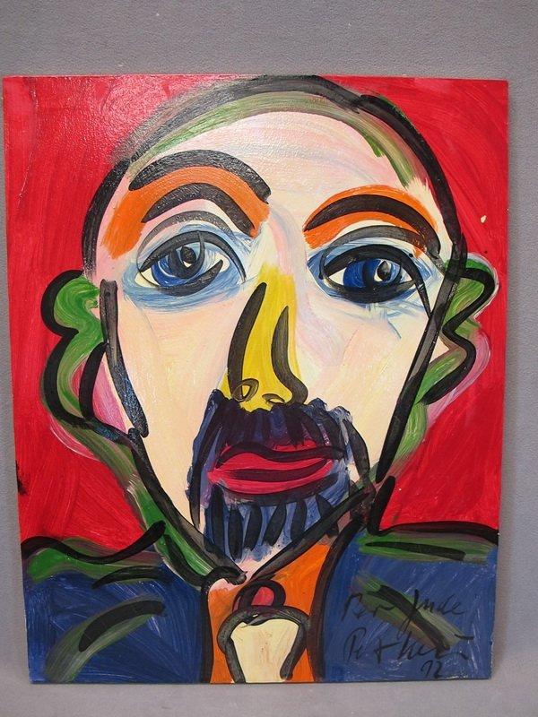 12: Peter KEIL (1942) oil on canvas painting