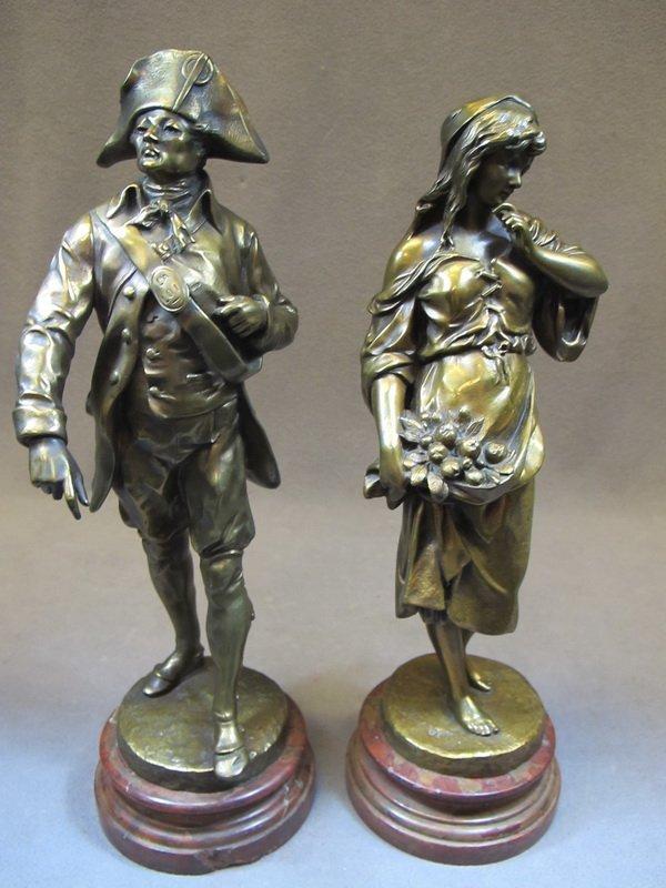 14: Emile Louis PICAULT (1833-1915) pair of statues