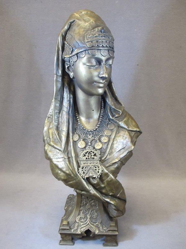 31: Large Orientalist spelter bust