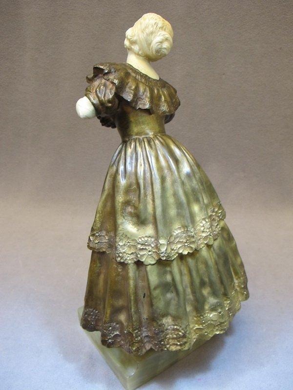 96: Paul PHILIPPE (1870-1930) bronze & ivory statue - 5
