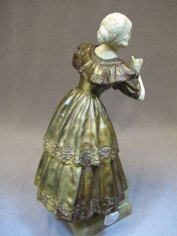 96: Paul PHILIPPE (1870-1930) bronze & ivory statue - 6