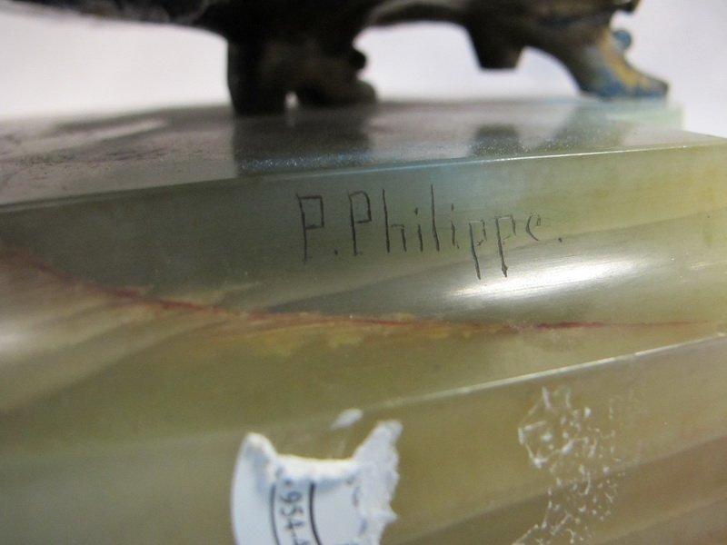96: Paul PHILIPPE (1870-1930) bronze & ivory statue - 7