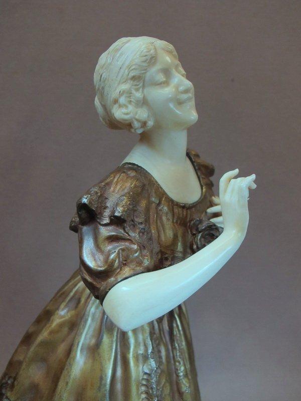 96: Paul PHILIPPE (1870-1930) bronze & ivory statue - 8