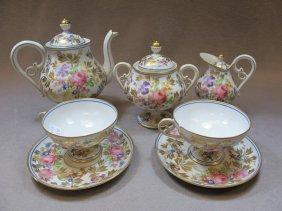 Antique Limoges teapot set for 2
