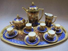 Royal Vienna porcelain teapot set for 6