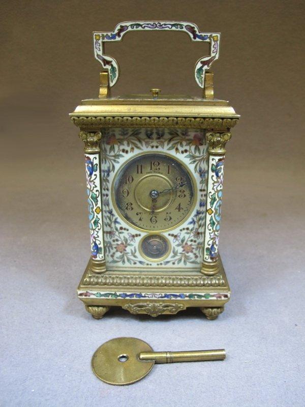 Paul Thimig Dresden bronze & enamel travel clock