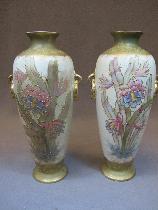 Royal Bonn pair of porcelain vases