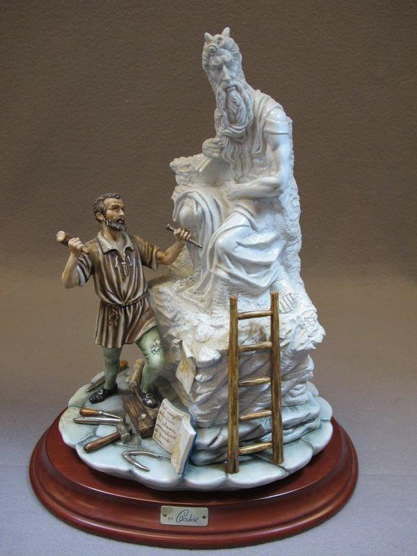 Italian Capodimonti porcelain statue