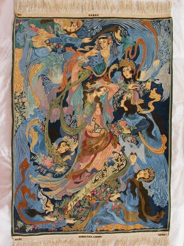 Rare Persian TABRIZ Masterpiece Signed