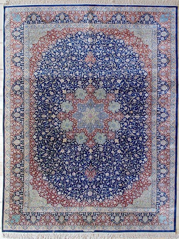 "A PERSIAN ( IRAN ) Masterpiece SILK "" QOM "" Signed"