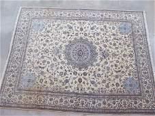 Genuine Nain Habibian wool and silk rug