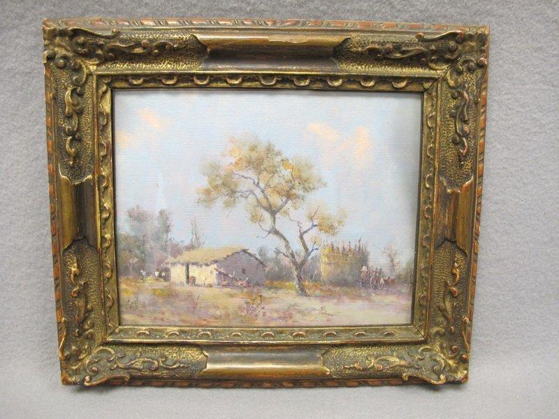 Oil on board landscape painting