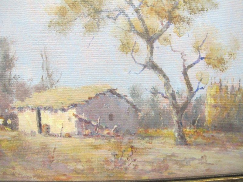 Oil on board landscape painting - 2
