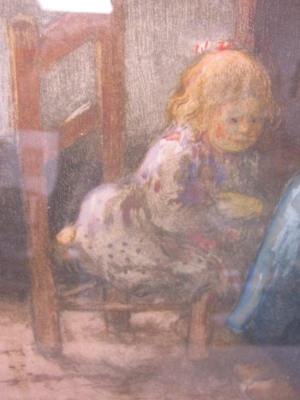Old French framed engraving - 4