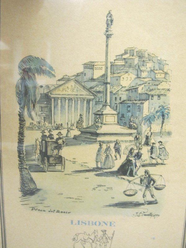 Old Portuguese cityscape framed print - 2