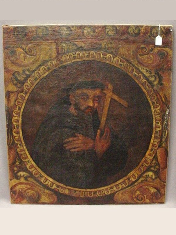 19th Century religious painting, unframed