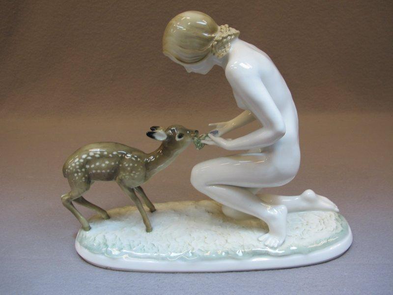German Hutschenreuther nude porcelain statue