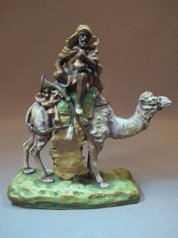 Austrian Amphora Orientalist porcelain statue