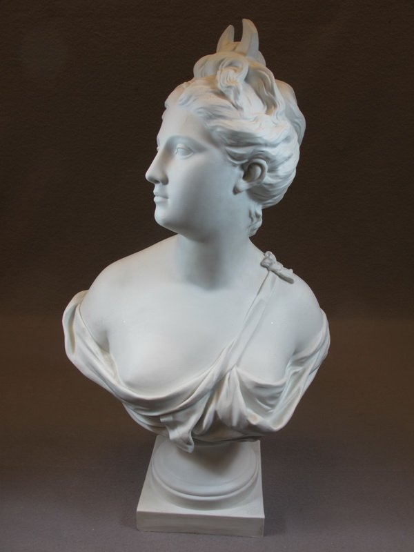 Old French porcelain bust, HOUDON