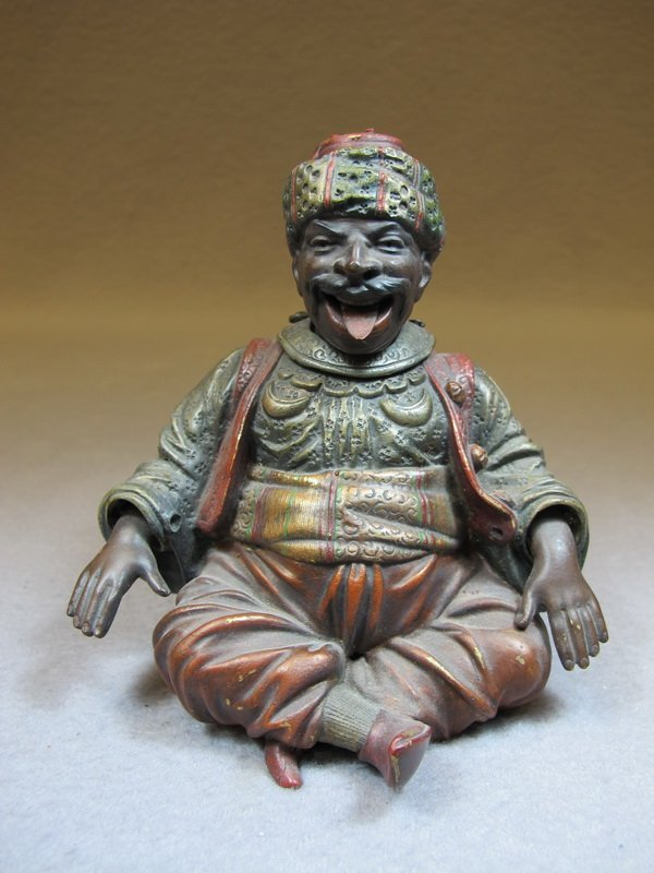 Antique Orientalist mechanical bronze