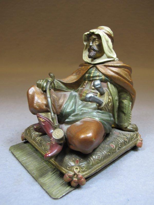 Antique Orientalist Vienna Bronze inkwell