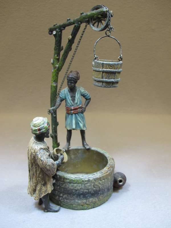 Antique Orientalist spelter statue