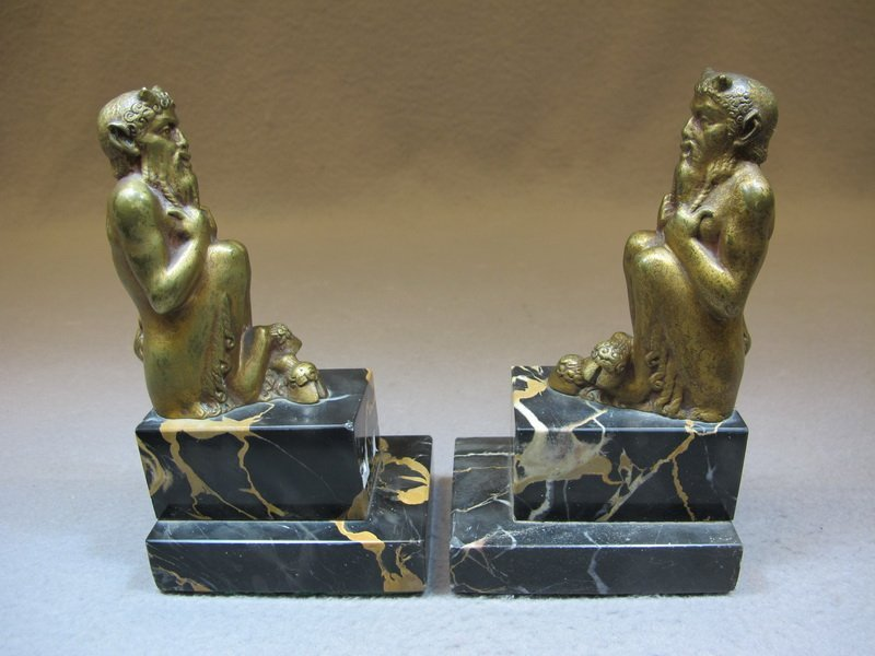 Octave Georges LELIEVRE (1869-?) pair of bookends