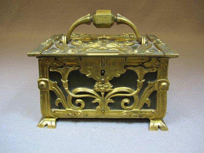 Antique Art Nouveau European bronze box