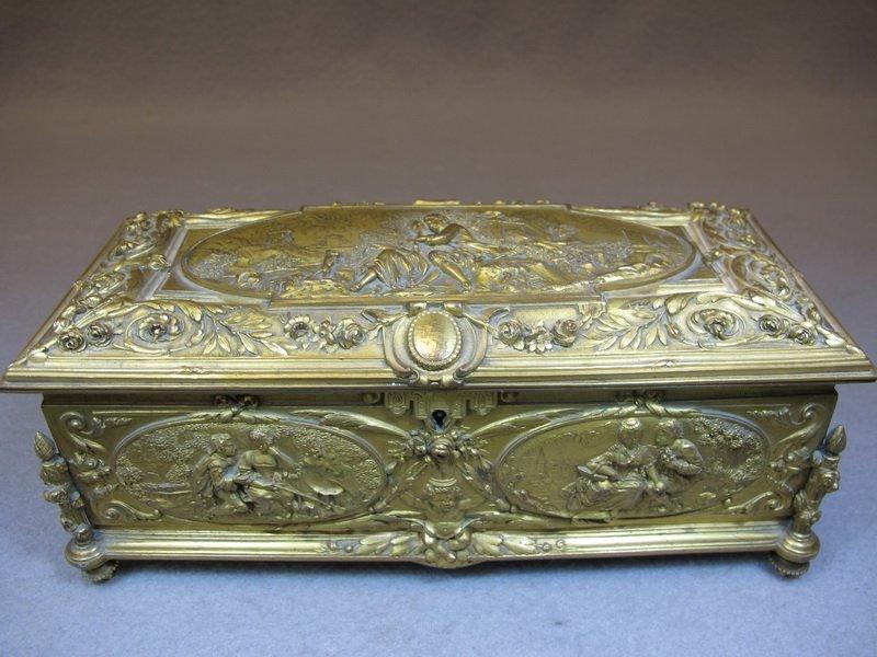 Antique French bronze box
