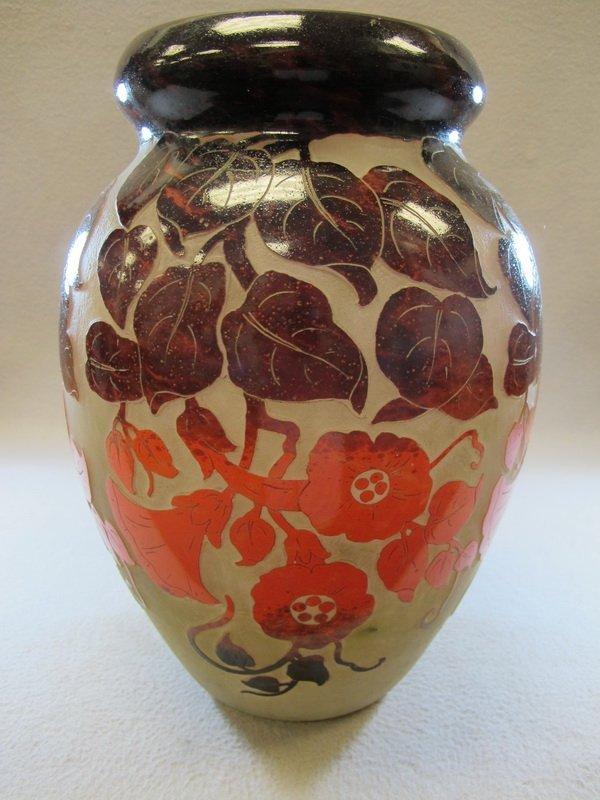 Antique French Degue glass vase
