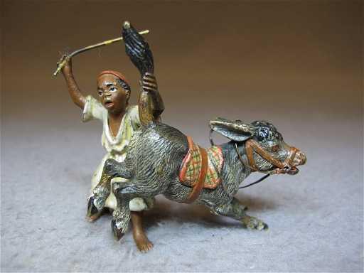 Vienna Bronze Orientalist Man Amp Dunkey Sculpture