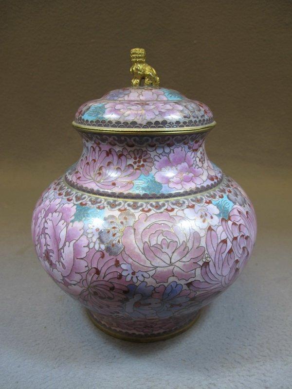 Old Chinese cloisonet lided vase