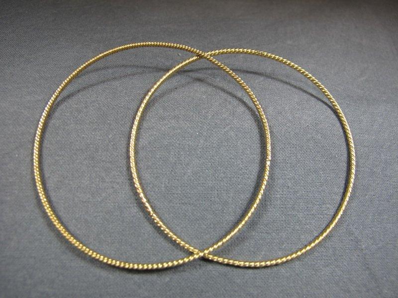 2 Bracelets, 14 k yellow gold, 6 grams