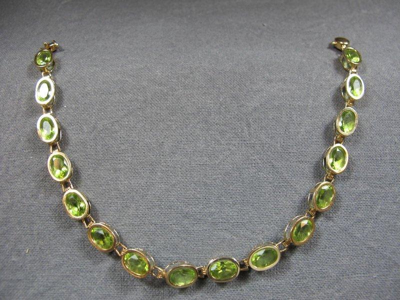 Bracelet, 14 k yellow gold & precious stones, 8 grams