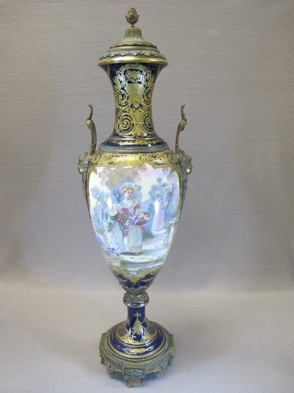 19th C French Sevres porcelain urn