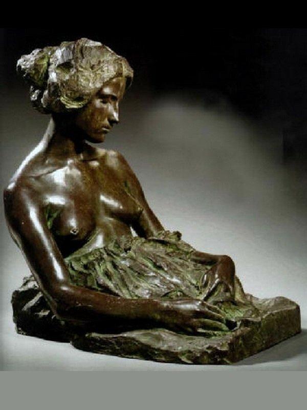 """""""Pensiero Dominante"""", F. BIALETTI (1869-1906) sculpture"""