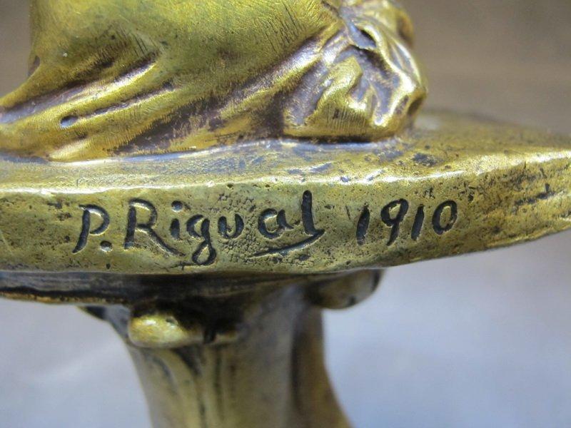 Pablo RIGUAL (XIX-XX) bronze statue - 4