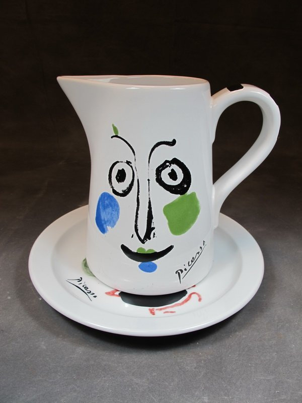 """Pablo Picasso """"Face 1963"""" pitcher and Victoria plate"""