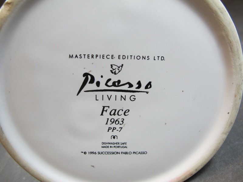 """Pablo Picasso """"Face 1963"""" pitcher and Victoria plate - 8"""