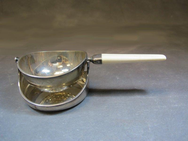 Cohr Danish sterling tea strainer
